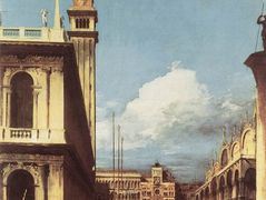 The Piazzetta, Looking toward the Clock Tower – Canaletto