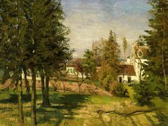 The Pine Trees of Louveciennes – Camille Pissarro