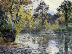 The Pond at Montfoucault – Camille Pissarro