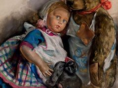 The Popoffs' doll, teddy bear and toy elephant – Zinaida Serebriakova