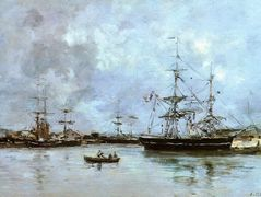 The Port of Deauville – Eugene Boudin