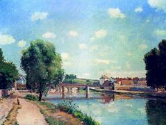 The Railway Bridge, Pontoise – Camille Pissarro