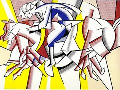 The red horseman – Roy Lichtenstein