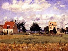 The Red House – Camille Pissarro