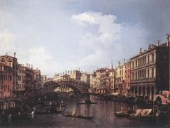The Rialto Bridge from the South – Canaletto
