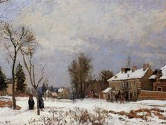 The Road from Versailles to Saint Germain, Louveciennes. Snow Effect – Camille Pissarro