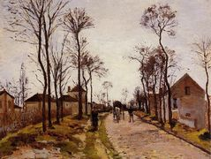 The Road to Saint Cyr at Louveciennes – Camille Pissarro