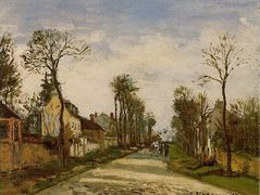The Road to Versailles at Louveciennes – Camille Pissarro