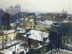 The Roofs of Paris in the Snow, the View from the Artist's Studio – Henri Martin