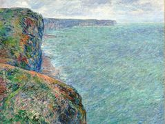 The Sea Seen from the Cliffs of Fecamp – Claude Monet