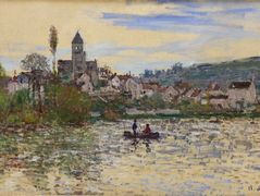 The Seine at Vetheuil  – Claude Monet