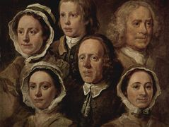 The servants of the painter – William Hogarth