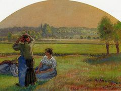 The Siesin the Fields – Camille Pissarro