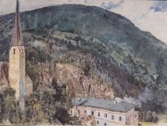 The St. Nicholas Church in Gastein – Rudolf von Alt