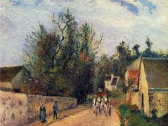 The Stage on the Road from Ennery to l'Hermigate, Pontoise – Camille Pissarro