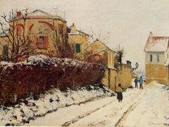 The street of the Citadelle, Pontoise – Camille Pissarro