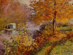 The Studio Boat — Claude Monet