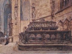 The tomb of Emperor Frederick III in the Stephansdom in Vienna – Rudolf von Alt