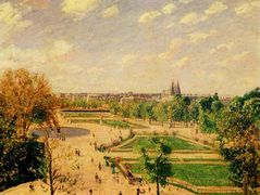 The Tuilleries Gardens Morning, Spring, Sun – Camille Pissarro