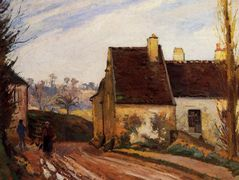 The Tumbledown Cottage near Osny – Camille Pissarro