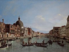 The Upper Reaches of the Grand Canal with S. Simeone Piccolo – Canaletto