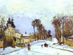 The Versailles Road at Louveciennes – Camille Pissarro