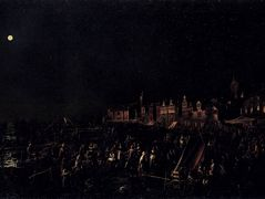 The vigil of Santa Marta – Canaletto