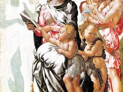 The Virgin and Child with Saint John and Angels (Manchester Madonna) — Michelangelo