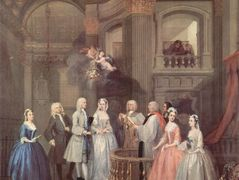 The Wedding of Stephen Beckingham and Mary Cox — William Hogarth