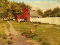 The White Fence – William Merritt Chase