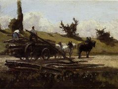The Wood Cart – Camille Pissarro