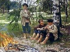 Three Boys in the Wood – Nikolay Bogdanov-Belsky