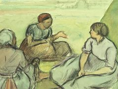 Three Peasant Women – Camille Pissarro