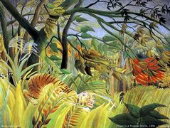 Tiger in a Tropical Storm (Surprised!)  – Henri Rousseau