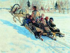 To school – Nikolay Bogdanov-Belsky