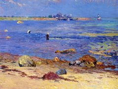 Treading Clams, Wickford  – William James Glackens