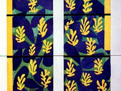 Tree of Life' Stained Glass behind the Altar in the Chapel of the Rosary at Vence  – Henri Matisse