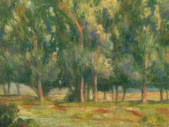 Trees by the River – Henri Martin