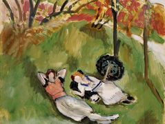 Two Figures Reclining in a Landscape  – Henri Matisse