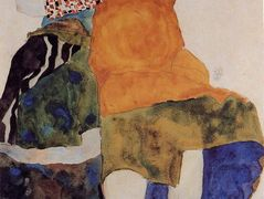 Two Seated Girls – Egon Schiele