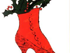 Untitled (red Boot Wit Holly) — Andy Warhol