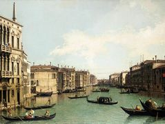 Venice: The Grand Canal, Looking North East from Palazzo Balbi to the Rialto Bridge – Canaletto