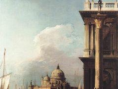 Venice,  The Piazzetta Looking South west towards Santa Maria della Salute – Canaletto