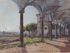 View from the Monastery of Sant 'Onofrio in Rome – Rudolf von Alt