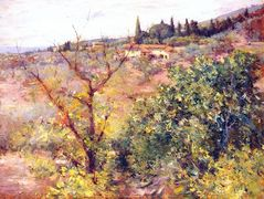 View of Fiesole — William Merritt Chase