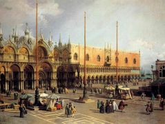 View of the Church and the Doge s Palace from the Procuratie Vecchie – Canaletto