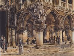 View of the Ducal Palace in Venice – Rudolf von Alt