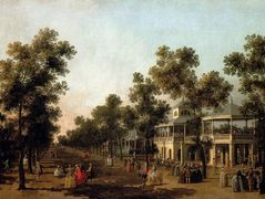 View Of The Grand Walk, vauxhall Gardens, With The Orchestra Pavilion, The Organ House, The Turkish Dining Tent And The Statue Of Aurora – Canaletto