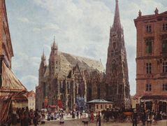 View of the Stephansdom from Stock im Eisen Platz – Rudolf von Alt