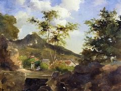 Village at the Foot of a Hill in Saint Thomas, Antilles – Camille Pissarro